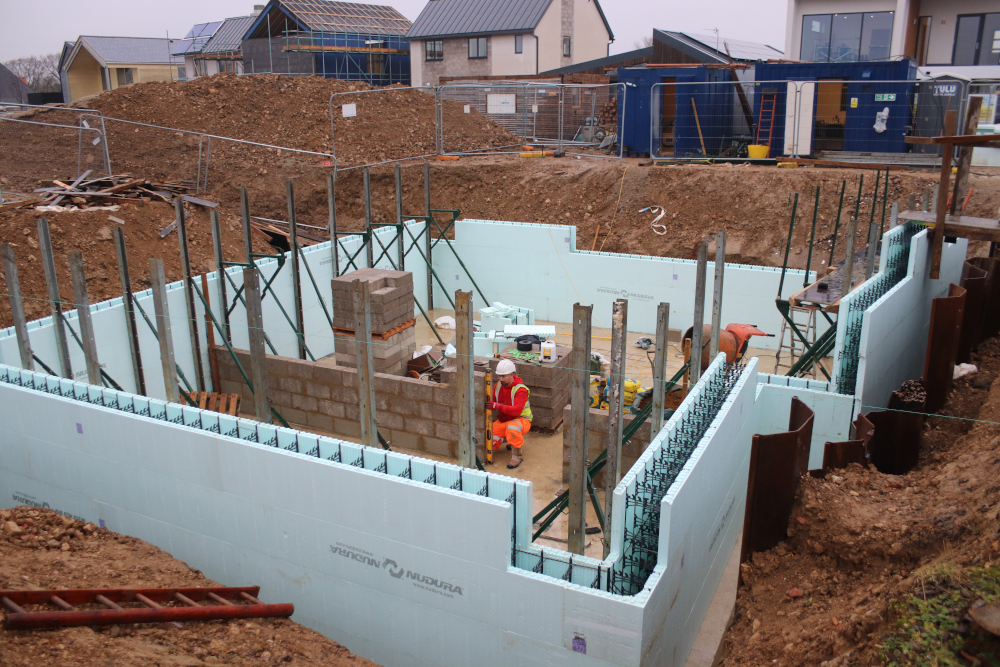 The ICF basement by Nudura goes in