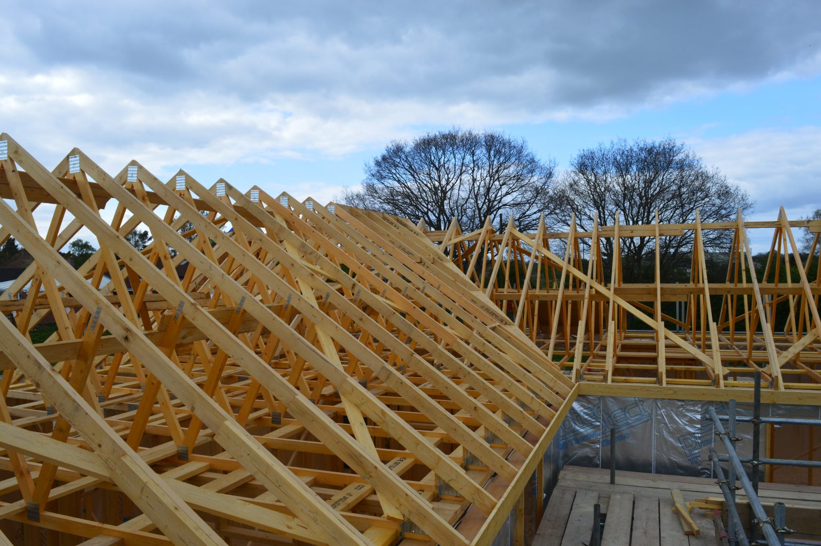 roof trusses on a Potton home