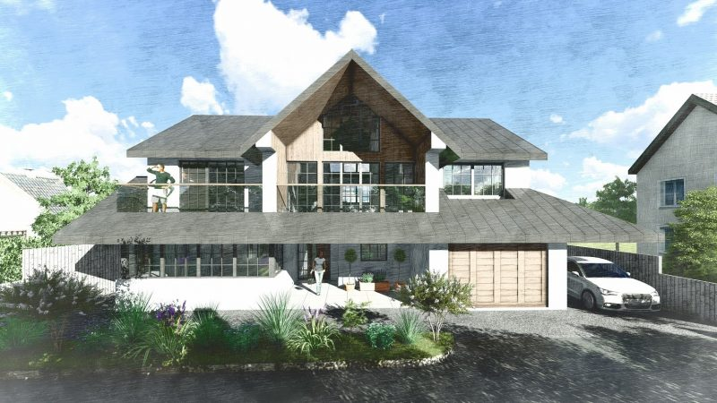 lapd Architects design for a self build at Graven Hill