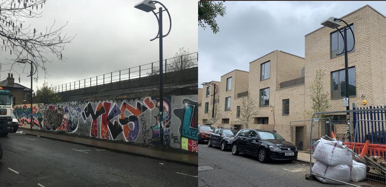 Blenheim Grove before & after